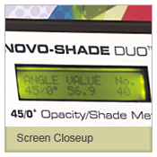 Novo Gloss 45 screen closeup
