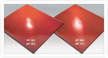 red gloss tiles